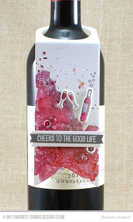 wine bottle tag MFT Die-namics #mftstamps