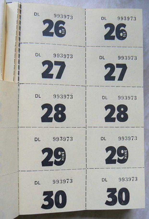 Cómo imprimir boletos numerados