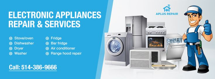 #AplusRepair: The Best #Aplliance Repair Service Provider in #Montreal.  We repair all the electonics appliances of all established company like #Maytag #Whirpool #Inglis #KitchenAid, #dacor, #samsung, #Kenmore and many more. To avail our services:  Visit http://www.reparationaplus.ca/services/ Call 5143869666