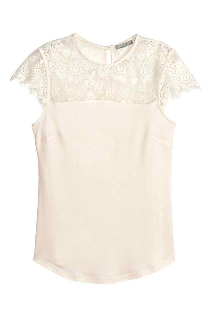 Top con carré in pizzo | H&M