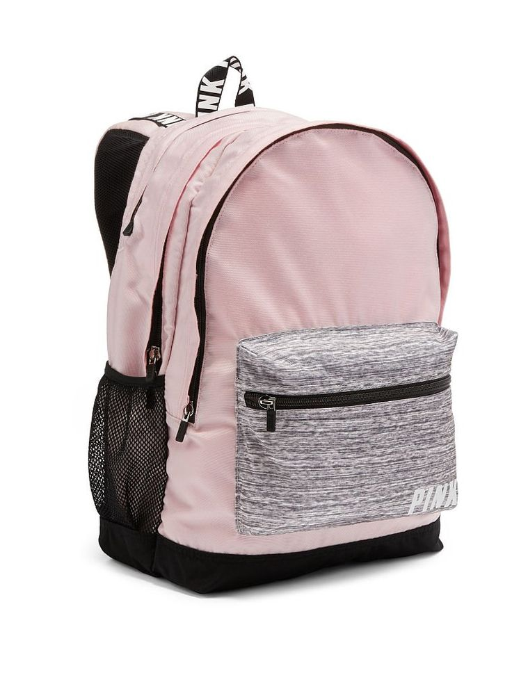 Victoria Secret Pink Backpack Pink Grey White New Campus Holiday 2016. New. 100% authentic Victoria Secret Pink.