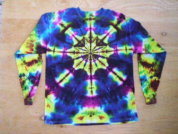 Kaleidoscope Tie Dye Long Sleeve by tiedyetodd on Etsy, $30.00