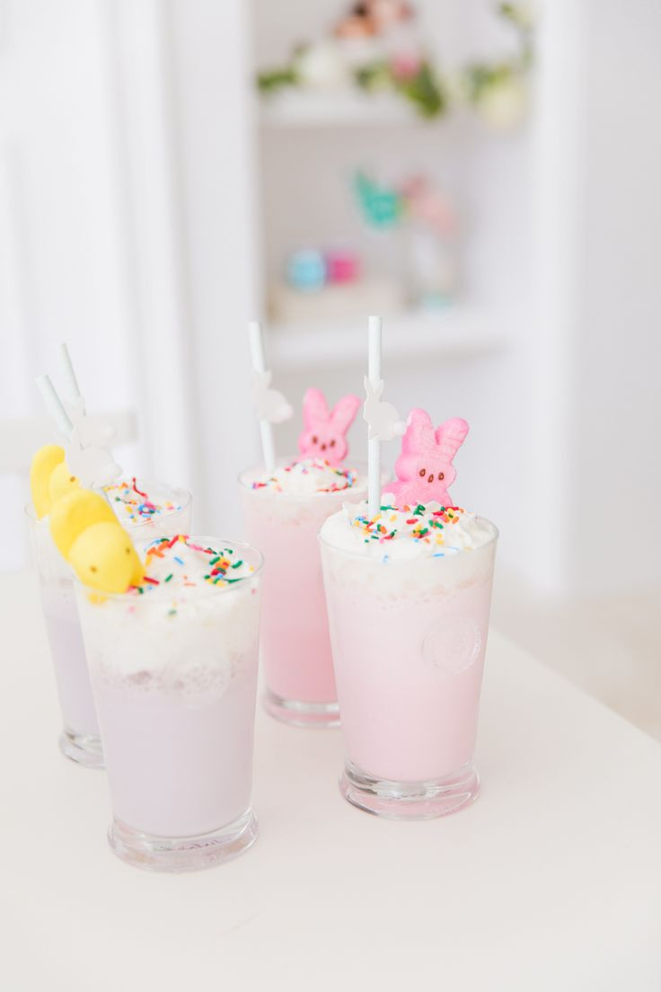How cute are these pastel milkshakes from @fashionablehost? Beautifully styled in our Berry & Thread highballs & perfectly suited for Easter brunch or a springtime soiree!