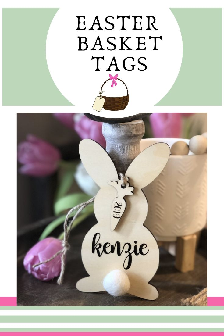 Easter Tag Card Personalised Bunny Unicorn Easter