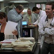 Maura Tierney, Abraham Benrubi, Troy Evans, Goran Visnjic, and Shane West in ER (1994)