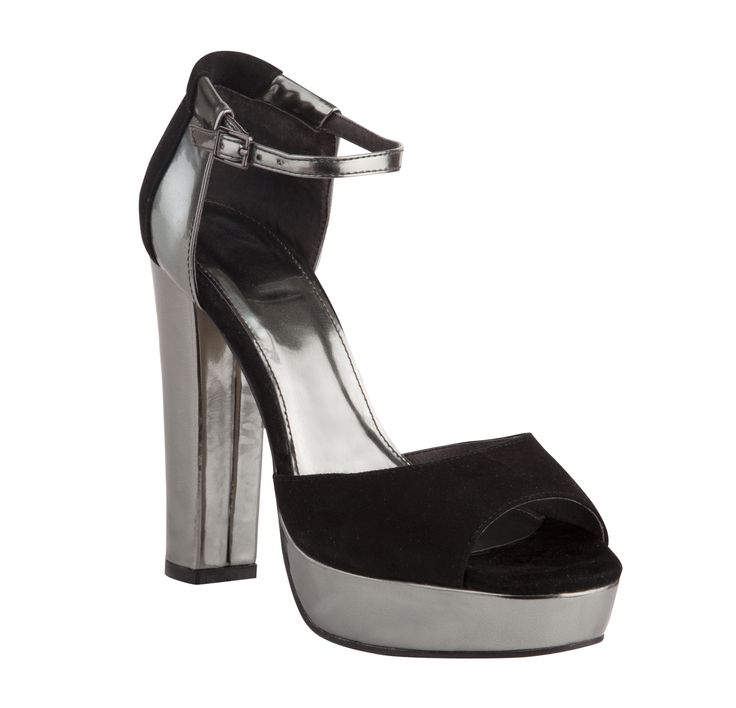 Overland Footwear – Isabella Collection – 'Blanche' Black/Gunmetal and Silver $199.90 nzd http://www.overlandfootwear.co.nz/blanche-p-5560/colour/Black/Gunmetal#colour=Black/Gunmetal