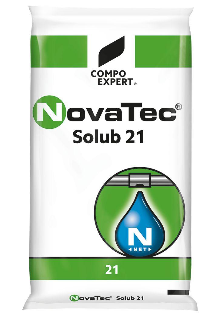 NovaTec Solub 21 Σύνθεση: 21-0-0 +24S  Άζωτο σε 100% σταθεροποιημένη αμμωνιακή μορφή. Ιδανικό για κάθε καλλιέργεια για σταδιακή τροφοδοσία σε άζωτο με στρωτή ανάπτυξη και πολύ καλό χρωματισμό.     Συσκευασία: σάκοι των 25 κιλών.