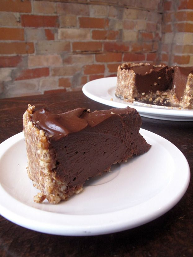 no-bake chocolate cream pie #vegan #glutenfree #paleo