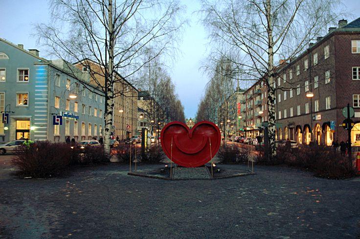 Umeå's heart in Umeå, Sweden.