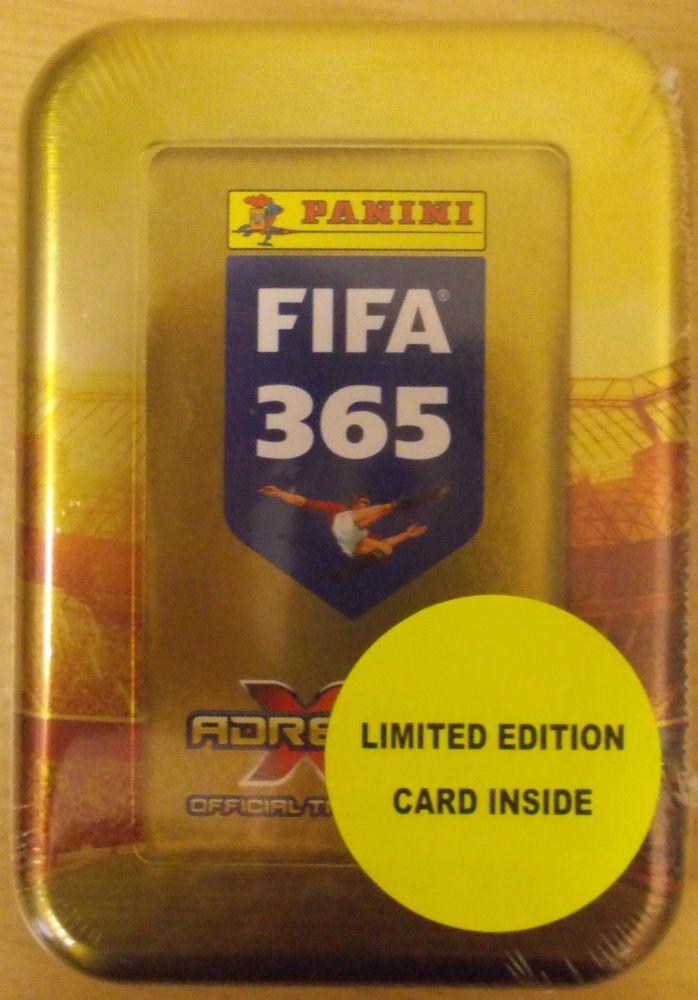 2015/2016 Panini TOP TEAMS FIFA 365 Adrenalyn Soccer Cards TIN. 50 CARDS+LTD EDN