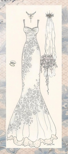 Wedding dress, embroidery