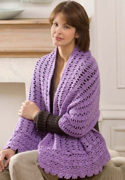 Say a Little Prayer Shawl. I've always love the idea of a prayer shawl, just never found a pattern I thought was very pretty. I love this one, though.