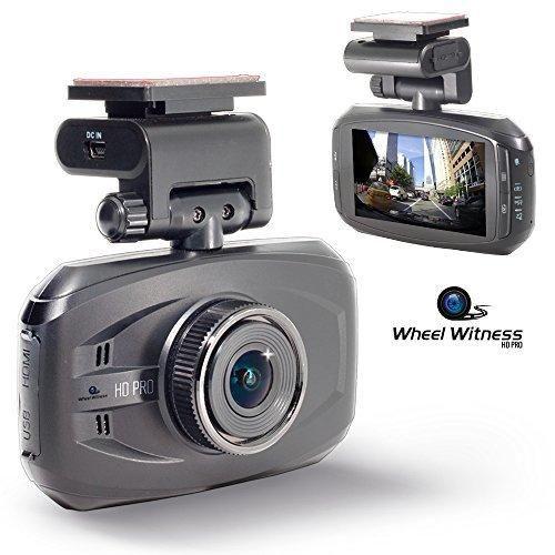 WheelWitness HD PRO Dash Cam with GPS - 2K Super HD - 170 Lens - 16GB microSD - Advanced Driver Assistance - For 12V Cars & Trucks - Night Vision Dashboard Camera Ambarella A7LA50 Car Security DVR