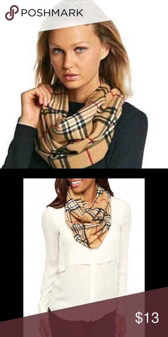 Plaid Infinity Scarf Plaid Infinity Scarf. Dresses up any top. V Fraas Cashmink Accessories Scarves & Wraps