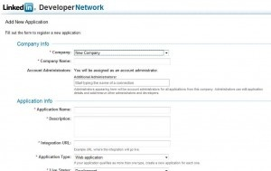 How to integrate linkedin api in your site