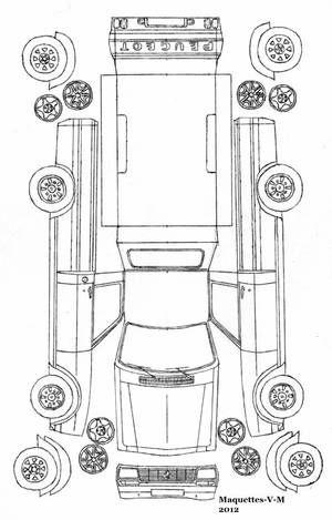 Peugeot 504 Pick Up Maquette By Me Paper Pinterest Peugeot