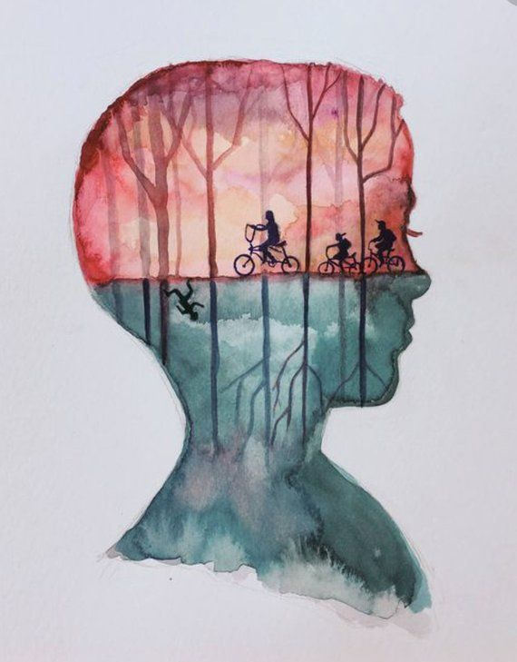 ORIGINAL Eleven Stranger Things Watercolor Painting