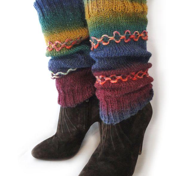 Luxury Hand Knitted Leg Warmers - Groovy, Paradis Terrestre