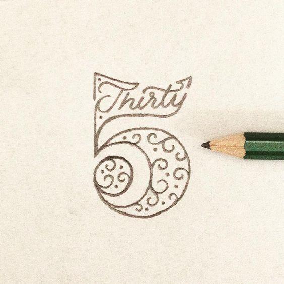 "typeandlettering: "" 35 by Toferflowers """