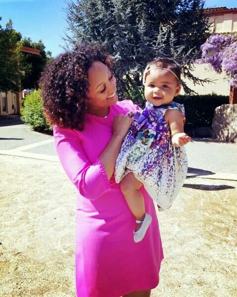 Tamera Mowry and her baby girl