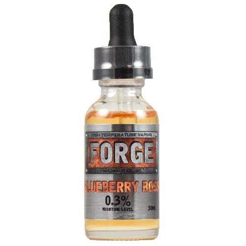 Forge Vapor eLiquids Blueberry Boss - With just the right amount of blueberry flavor, packed inside a custard cream any 5 star chef would be proud of, Blueberry Boss could be your next daily vape. It's just smooth enough, and just light enough, to let the blueberries shine without becoming overpoweringly bitter or sour.70% VG