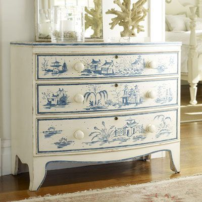 White & Blue Painted Furniture | blue white like delft ...