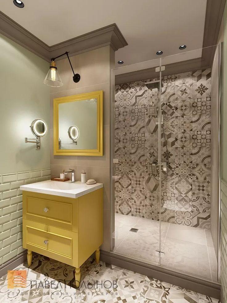 Фото интерьер ванной комнаты из проекта «Дизайн проект трехкомнатной квартиры 88 кв.м., ЖК «Северная Долина», американская классика с элементами LOFT»