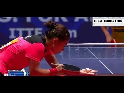 Liu Shiwen Chn Vs Miu Hirano Jpn Final World Women Team Table Tenn Team Table Tennis Championships Table Tennis