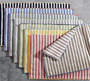 Marlo Stripe Bath Rug Flooring Bath Rugs Bathroom