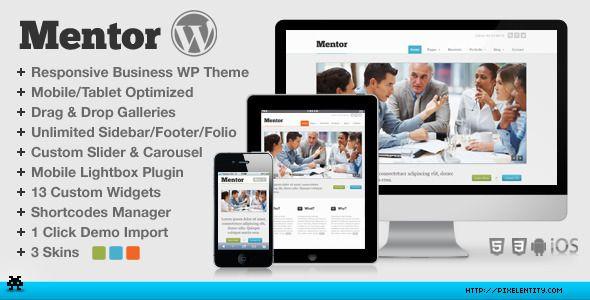 Mentor - Premium Responsive HTML5 Business WordPress Theme
