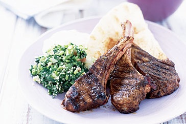 The flavour-filled rub tastes great on the succulent lamb cutlets.