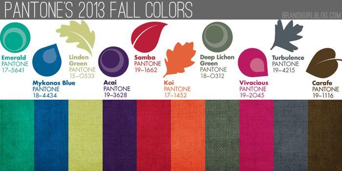faire les mélanges pantone  automne 2013-