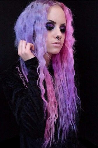 Lavender purple pink hair