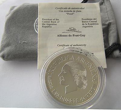 Аргентина, Серебряная монета 1 песо 2002 года, Ева перон, доказательство! in Монеты и банкноты, Монеты: страны мира, Южная Америка | eBay