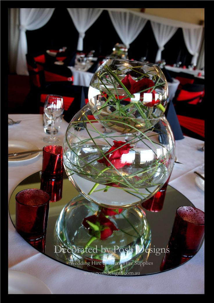#redthemedwedding #fishbowltablecentres #wedding #theming available at #poshdesignsweddings - #sydneyweddings #southcoastweddings #wollongongweddings #canberraweddings #southernhighlandsweddings #campbelltownweddings #penrithweddings #bathurstweddings #illawarraweddings  All stock owned by Posh Designs Wedding & Event Supplies – lisa@poshdesigns.com.au or visit www.poshdesigns.com.au or www.facebook.com/.poshdesigns.com.au #Wedding #reception #decorations #Outdoor #ceremony decorations