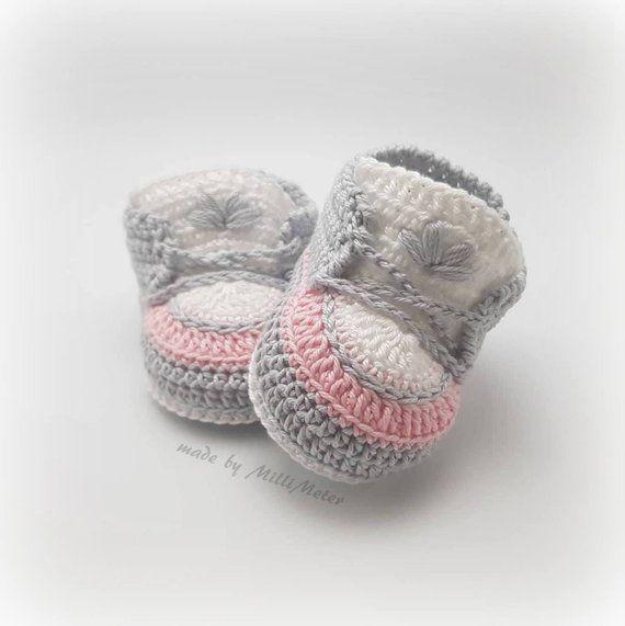 Babyschuhe Gehäkeltbabysneakersbaby Turnschuhegeschenk Zur
