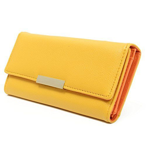 New Trending Purses: OURBAG Women PU Leather Clutch Wallet Envelope Purse Credit Card Holder Long Purse Yellow. OURBAG Women PU Leather Clutch Wallet Envelope Purse Credit Card Holder Long Purse Yellow   Special Offer: $9.99      277 Reviews Features Material: PU Leather Dimensions: 19 x 2 x 9.5 cm/7.48 x 0.78 x 3.74 inch Color: Green,Blue, Pink,Purple,Black Structure:Total 15 credit card slots, 1...