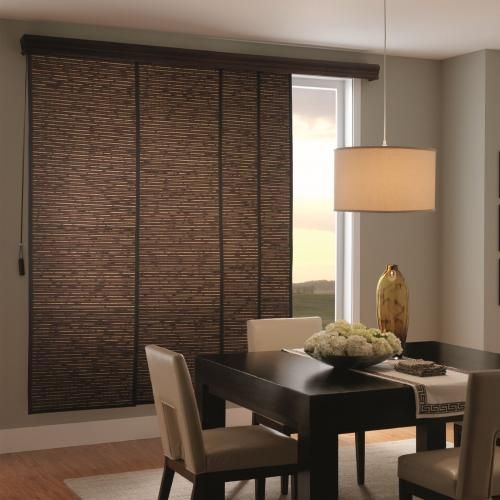 Bali Woven Wood Sliding Panels Are A Stylish Way To Cover Large Windows