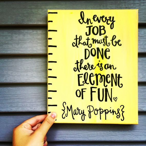Mary Poppins Canvas by CustomizedByCristina on Etsy