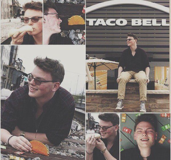 My friend got his senior pictures at Taco Bell #Followme #CooliPhone6Case on #Twitter #Facebook #Google #Instagram #LinkedIn #Blogger #Youtube How to Make your own DIY #Samsung #Galaxy #Case http://ift.tt/1JAekZB