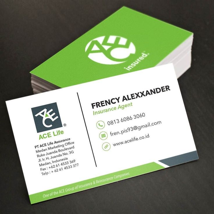 Name card design for insurance agent based in Medan Client - name card