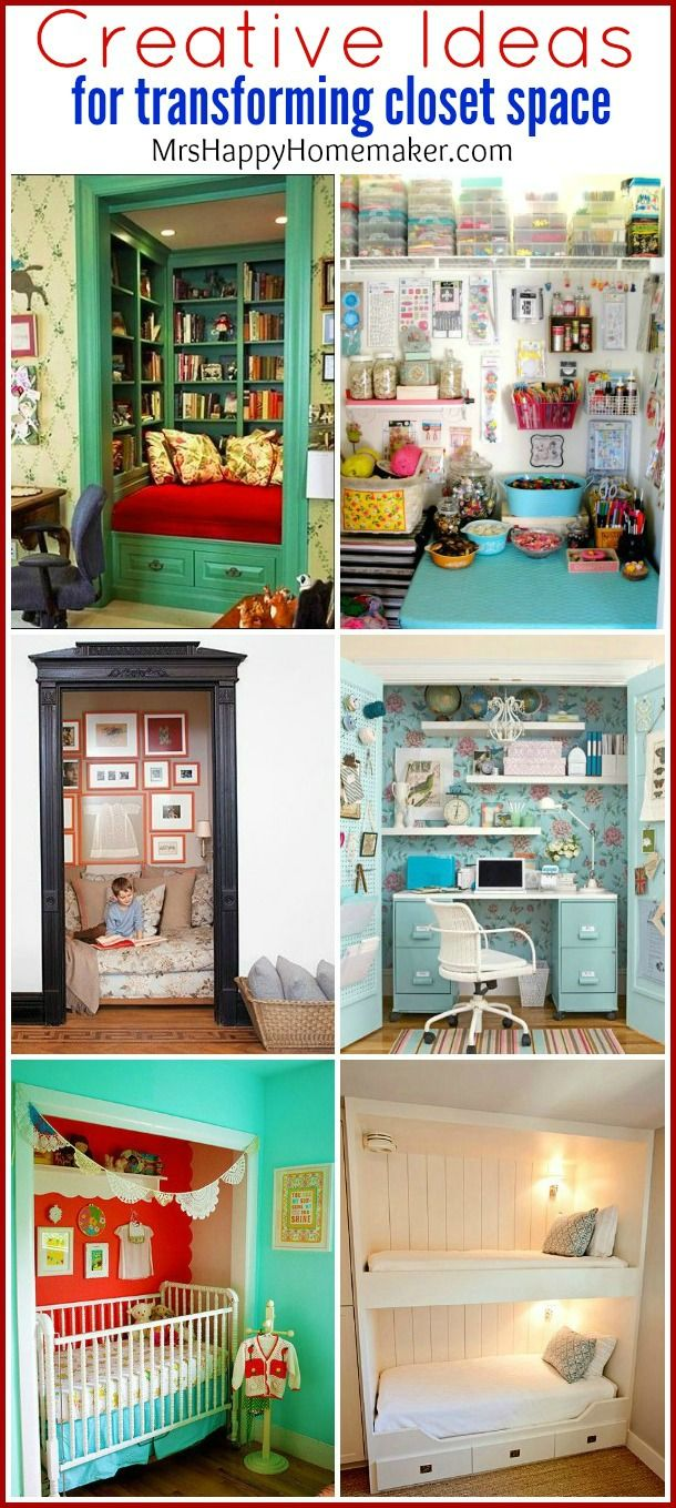 Do you have an unused closet that you're just itching to do something with? Check out these fabulously creative ideas to makeover your closet space!