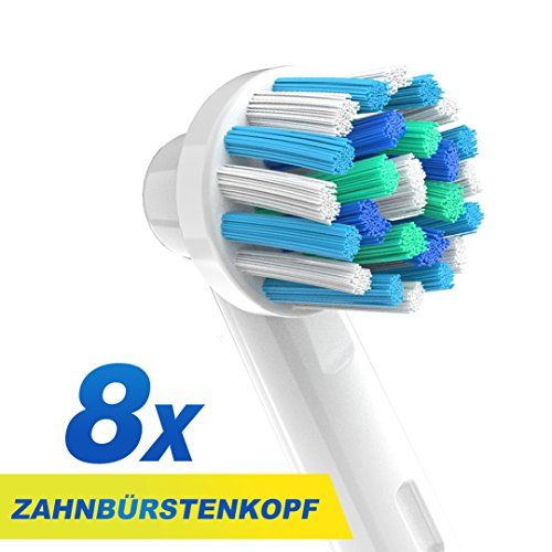 Cross Action Brossettes de rechange compatibles avec les supports de brosses à dents électriques Oral-B-Brossettes de rechange pour EB50 et autres-Entièrement compatibles avec les brosses à dents Oral-B noir, Deep Sweep, SmartSeries, ProSeries, Triumph, Advance Power, ProfessionalCare, ProfessionalCare SmartSeries, Vitality Floss Action, Vitality Dual Clean, Vitality CrossAction, Vitality Precision Clean, Vitality Pro White, Vitality Sensitive, Vitality TriZone, produits de rechange de la…