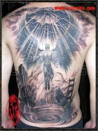Image result for angel tattoos for men