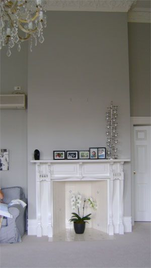 Resene Quarter ash on lounge walls, with Resene Black White trims for lounge