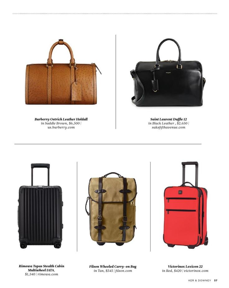 Sling a luxe duffel over your shoulder or let a smooth gliding rolling case be your guide. Whatever you pick, carry on the most handsome, most durable luggage in flight.