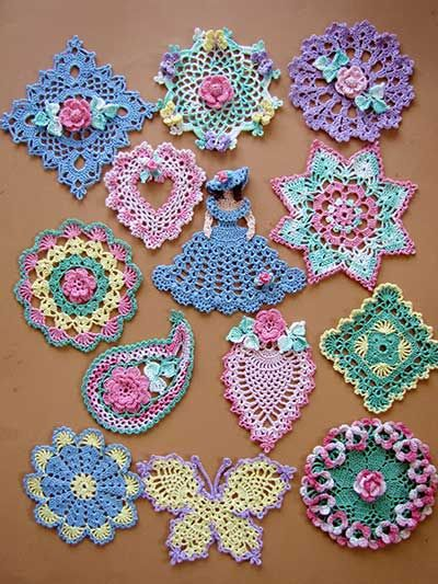 Dainty Little Doilies - possibility for creating a crochet sampler book or for a group of framed pieces as an art display. Annie's Attic patterns.