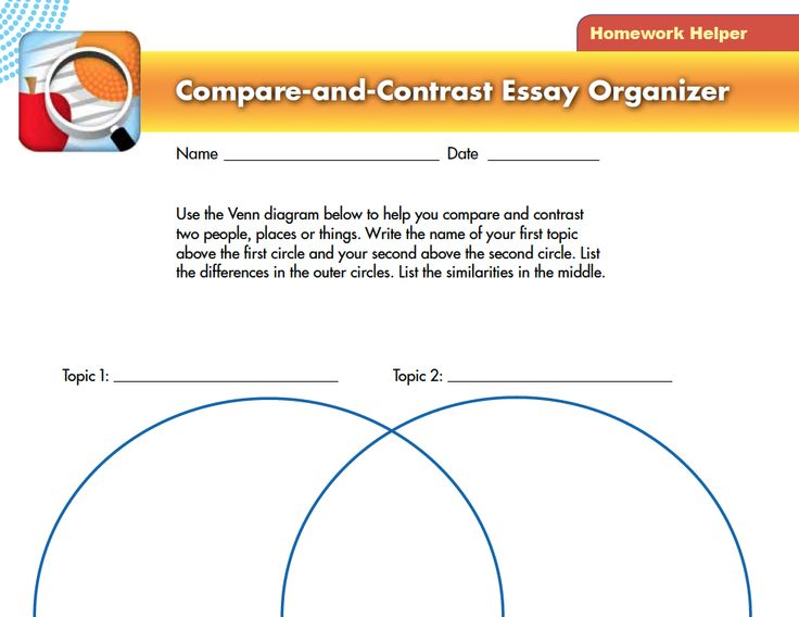 best student resources images homework pdf and  for a compare and contrast essay use the venn diagram below to help