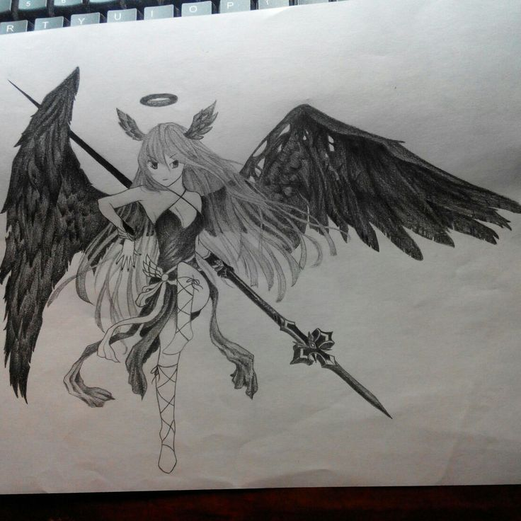 Female Lucifer, one of the heroes of the game Lostsaga.