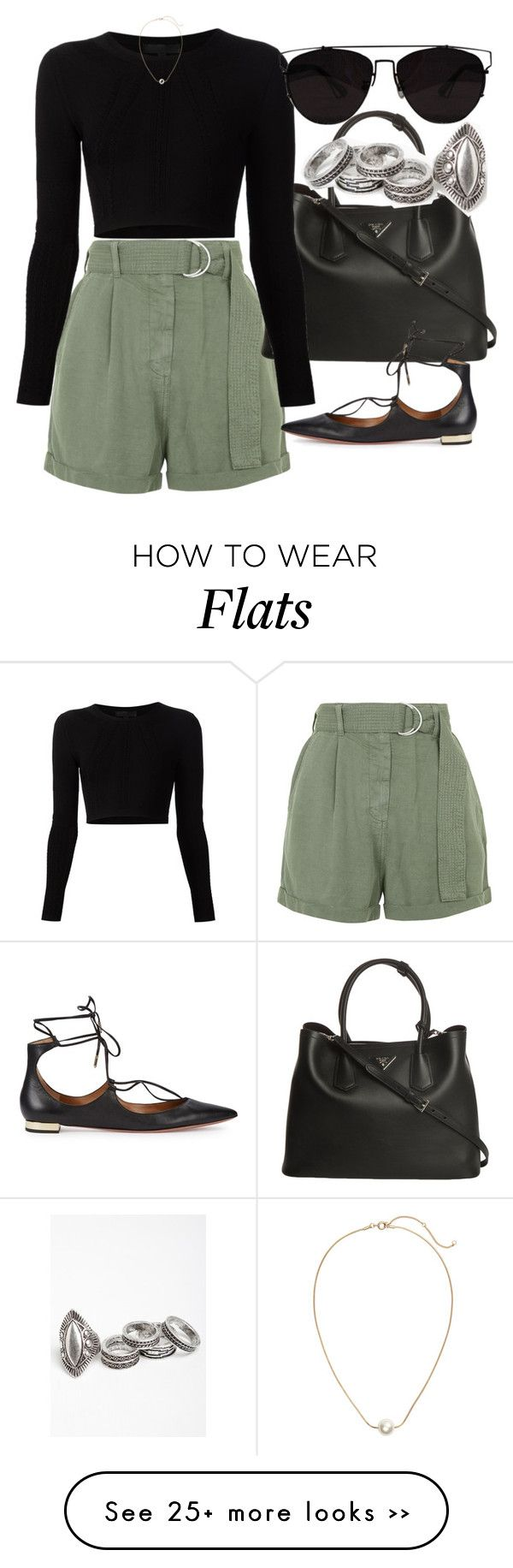 """Untitled #2789"" by glitter-the-world on Polyvore featuring Topshop, Prada, Cushnie Et Ochs, Aquazzura and H&M"